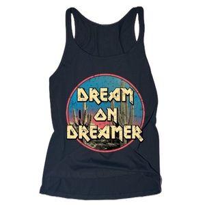 Dream On Dreamer Graphic Print Scoop Neck Tank
